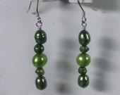 Green Pearl Earrings -SE025