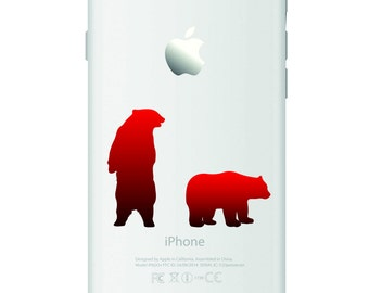 D570 Bear iPhone Vinyl Decal Sticker for Apple iPhone (4, 5, 6, 6+)