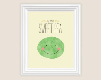 Printable Nursery Art - Sweet Pea - 8x10