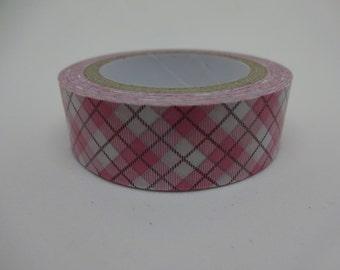 Pink argyle Washi tape 10 m/11yards crafting tape washi decorative tape cardmaking tape baby tape scrapbook tape pattern washi
