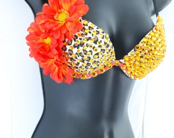 Jungle Queen Rave Bra Size 34B