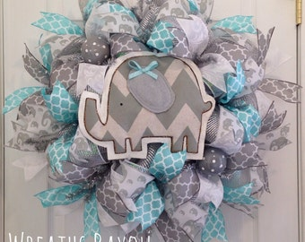 Baby Wreath Baby Girl Baby Boy Baby Shower Gift Nursery Decor Home Decor Wreaths Deco Mesh Wreath *MADE TO ORDER*