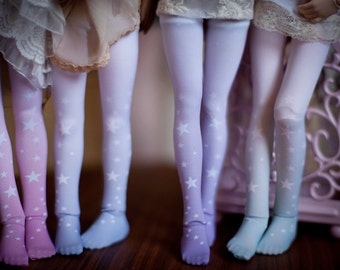 ombre stars bjd stockings  MSD / SD / Blythe / tiny