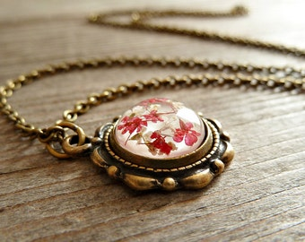 Blossom jewelery real flower necklace