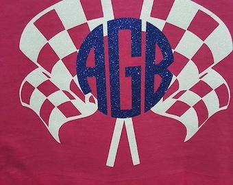Racing Flag Monogram Tshirt