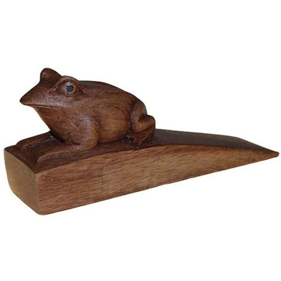 Hand Carved Wooden Animal Door Stops By Ancientwisdombuddha