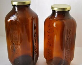 Set of Two Vintage Water/Juice Bottles