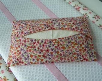 Tissue holder liberty of london tissue holder travel tissue case Kleenex pouch pocket tissue holder travel tissue holder orange purse
