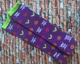 Halloween Baby Legs, Leggings, Bats, Pumpkin
