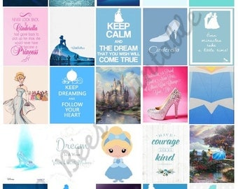 Printable Cinderella Inspired Boxes for Planners