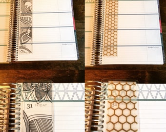 Transparent and Vellum Page Markers for Erin Condren Life Planner and Plum Planner
