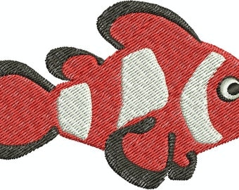 Clownfish - digital embroidery design