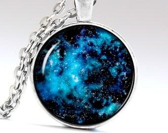Milky Way Jewelry Space Pendant Universe Necklace Star Charm Milky way Necklace Milky Way Pendant Space Necklace Space Jewelry  LG216