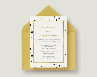 Stylish Chic Wedding Invitation Suite 1.3