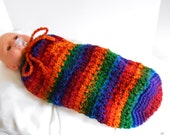 Crocheted Multi-Colored Baby Sack