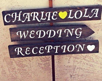 Rustic Reclaimed Wood Wedding Sign