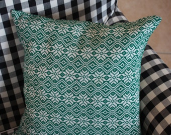 Retro Green Pillow Case