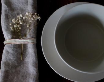 napkins linen set table setting rustic organic natural