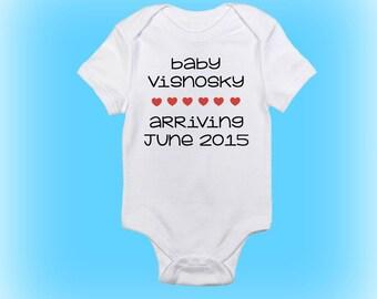 Pregnancy Reveal Onesie® - Pregnancy Announcement Onesie - Baby Announcement Onesie - Baby Shower Gift - Baby Boy - Baby Girl - Baby Onesie