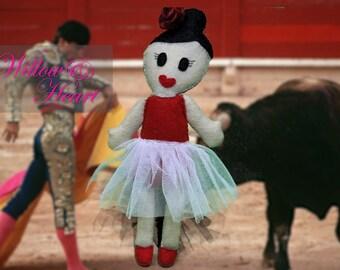 Valentina the Dancer Felt Doll