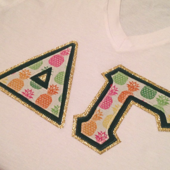 custom greek letters custom pineapple sorority letter 21271 | il 570xN.815631334 s89p
