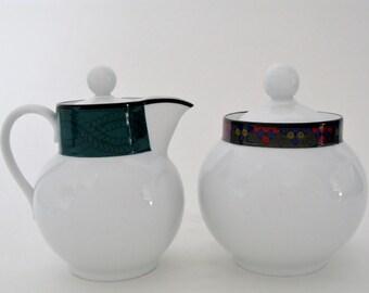 Dansk Porcelain Creamer & Sugar Bowl