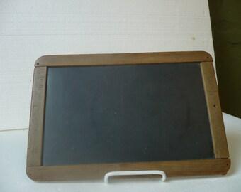 Primitive Antique Slateboard in Wooden Frame