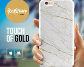 White Marble iPhone 6 case iPhone 6S Case White and Gold iPhone 6 Plus case Marble iPhone case S5 case iPhone 5s Case iPhone 5C case