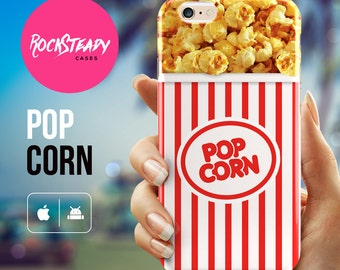 Popcorn iPhone 7 case , iPhone 6 Plus, 5s, SE, iPhone 6 cover,  funny case, samsung galaxy s7, s6, s5 case, popcorn  cell phone case