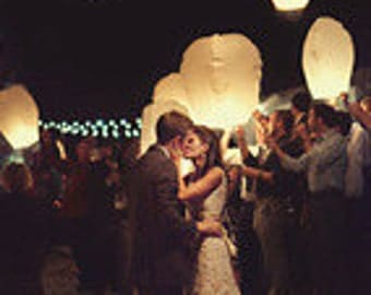 White Color Flying Sky Lanterns - Chinese wishing lanterns Paper Lanterns