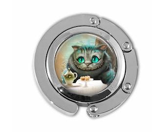 Purse Hook, Purse Hanger, Alice in Wonderland Purse Hanger, Cheshire Cat