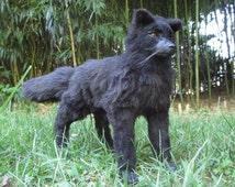 Navarre the Black Wolf OOAK Poseable Art Doll