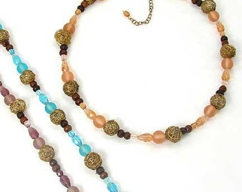 Talia Recycled Glass Bead Necklace