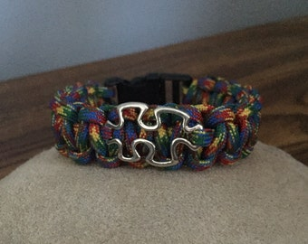 Autism Awareness Bracelet with Puzzle Piece