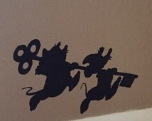 Cinderella Jaq and Gus Gus Wall / Car Decal