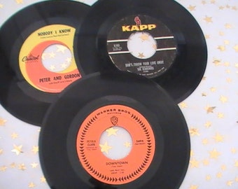 Eleven 45 RPM Records From the Sixties