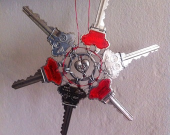 Red Key Ornament
