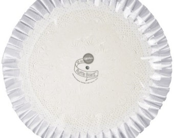 """12"""" Cake Boards as low as 1.75, Pkg of 2, 6 or 12, Corrugated Cake Circles with Ruffle, Decorator Satin Ruffle Edge from Wilton"""