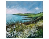 Giclee print, Cornish sea...