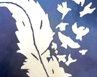 "Original Art ""Wishes in the Wind"""