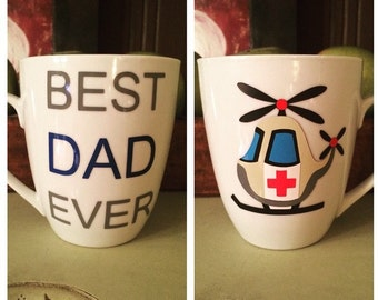 BEST DAD EVER//flight paramedic//medic//helicopter//personalized 12oz mug