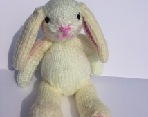 Hand Knitted Bunny , Hand Knitted Toy , Easter Bunny , Hand Knitted Rabbit , Handmade Toy , Handmade Rabbit , Handmade Bunny