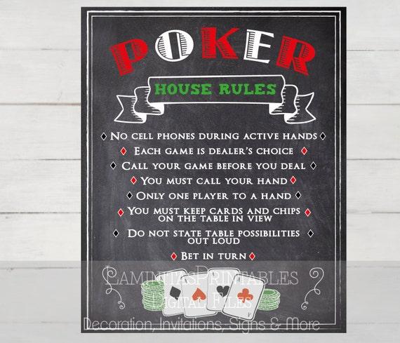 Home Poker Rules
