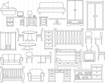 furniture clipart | etsy
