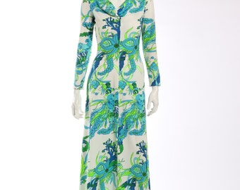 1970s Lord and Taylor Graphic Dress
