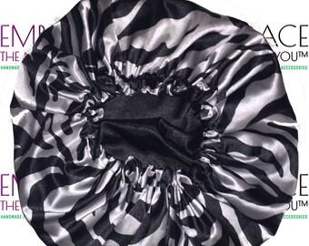 Satin Reversible Bonnet - Safari