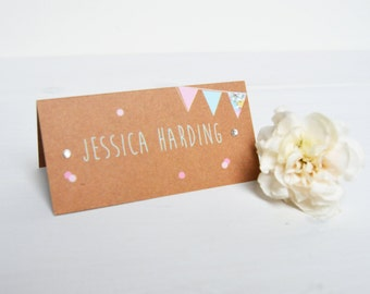 Country Bunting Place Card