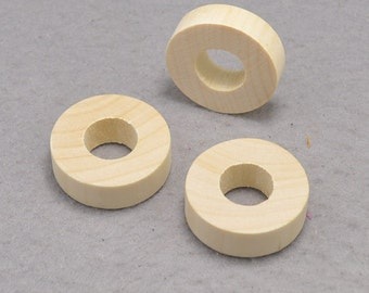 20pcs Unfinished Natural Wood Beads Chunky Wood Beads  34x10mm