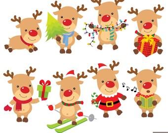 Christmas Reindeer Digital Clipart