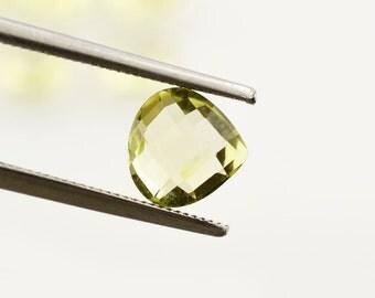 lemon quartz 8 mm heart briolette lot (10pcs)